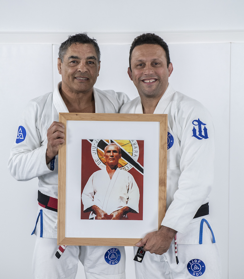 Gallerr - Rickson Gracie and Renzo Gracie with Helio Gracie